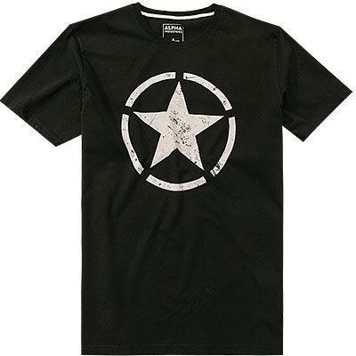 ALPHA INDUSTRIES Tričko Star T - čierne, (121513/03)