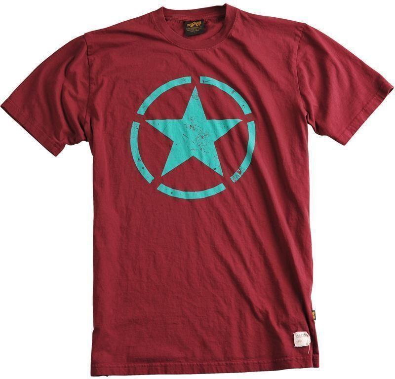 ALPHA INDUSTRIES tričko Star T, burgundy, 121513/184