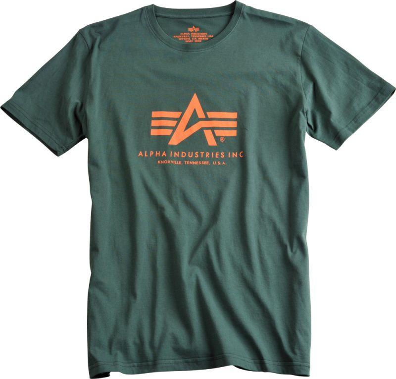 ALPHA INDUSTRIES tričko BASIC, dark petrol, 100501/353