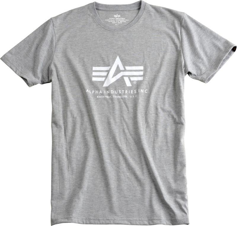 ALPHA INDUSTRIES tričko BASIC, šedo/biele, 100501/230