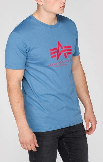 ALPHA INDUSTRIES Tričko BASIC - powder blue, (100501/337)