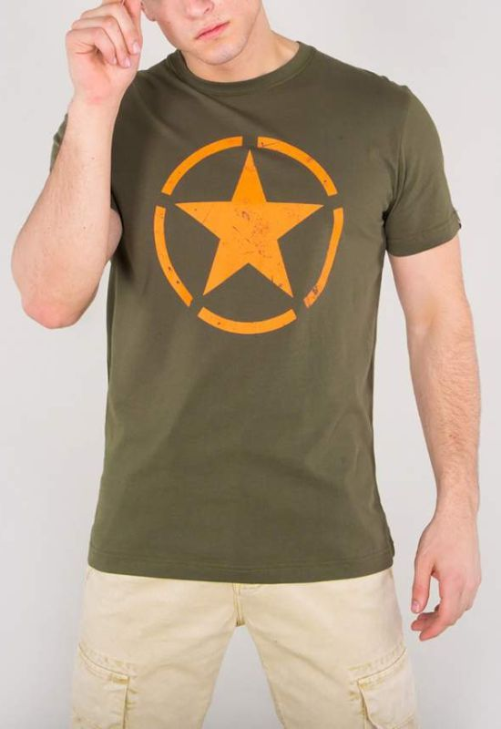 ALPHA INDUSTRIES tričko Star T, dark olive, 121513/142