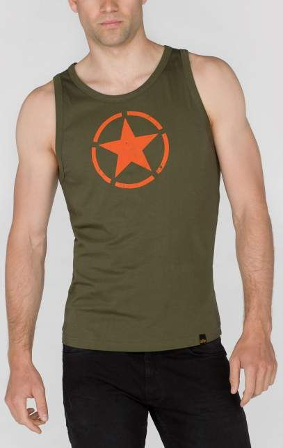 ALPHA INDUSTRIES Tielko Star Tank - dark green, (176540/257)