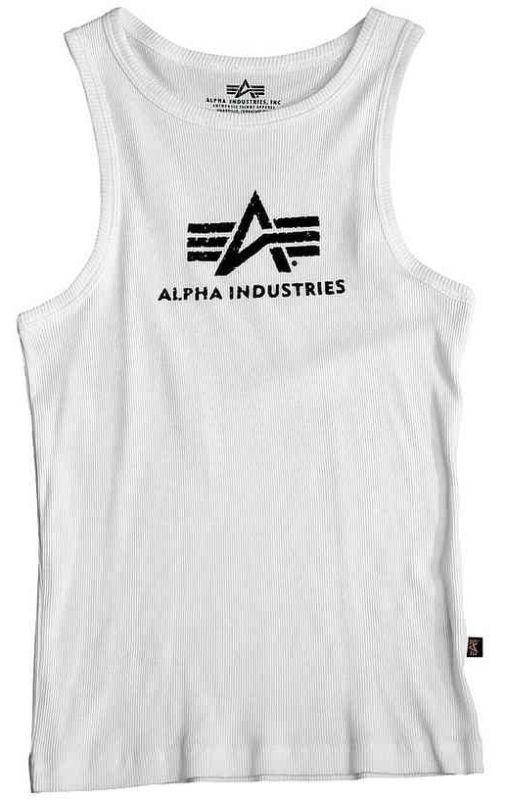 ALPHA INDUSTRIES tielko Logo, biele/čierne, 176545/92
