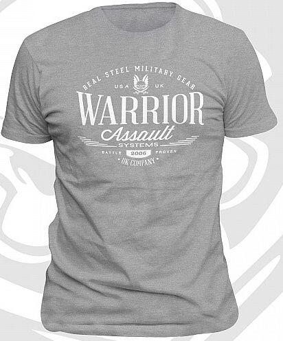 WARRIOR Tričko Vintage - šedé, (W-EO-TSHIRT-V-HG)