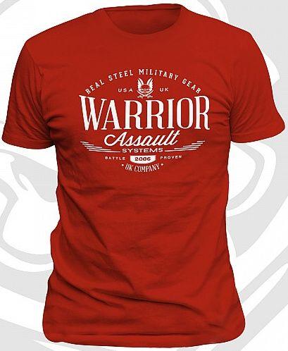 WARRIOR Tričko Vintage - červené, (W-EO-TSHIRT-V-R)