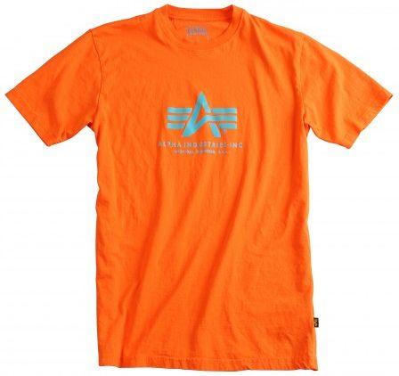 ALPHA INDUSTRIES Tričko BASIC - oranžové, (100501/39)