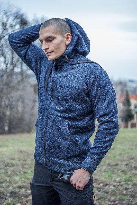 HELIKON Mikina s kapucňou Covert Tactical - modrá (BL-CHF-SF-M2)