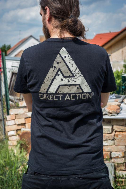 """DIRECT ACTION Tričko Logo """"Go loud"""" - čierne, (TS-LD1P-CTN-BLK)"""