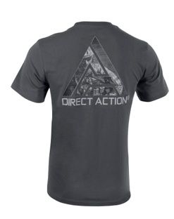 "DIRECT ACTION Tričko Logo 2""Go loud"" - shadow grey, (TS-LD2P-CTN-SGR)"