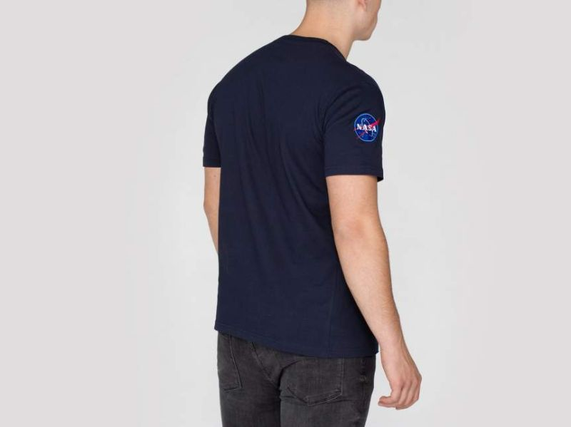 ALPHA INDUSTRIES Tričko NASA T - modré, (176506/07)