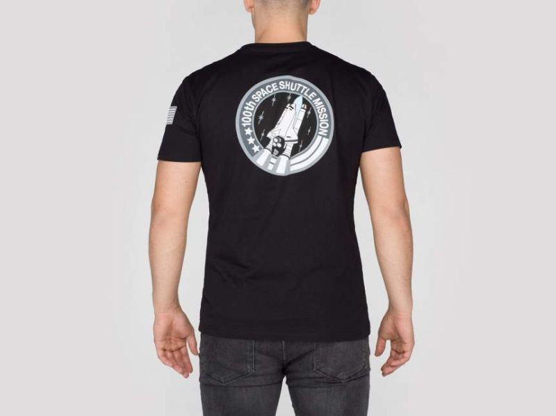 ALPHA INDUSTRIES Tričko Space Shuttle T - čierne, (176507/03)