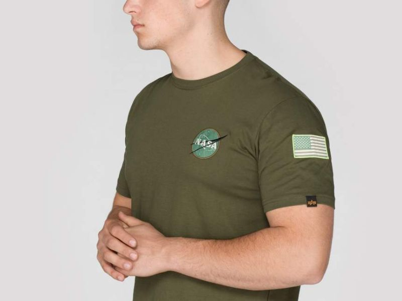ALPHA INDUSTRIES Tričko Space Shuttle T - dark green, (176507/257)
