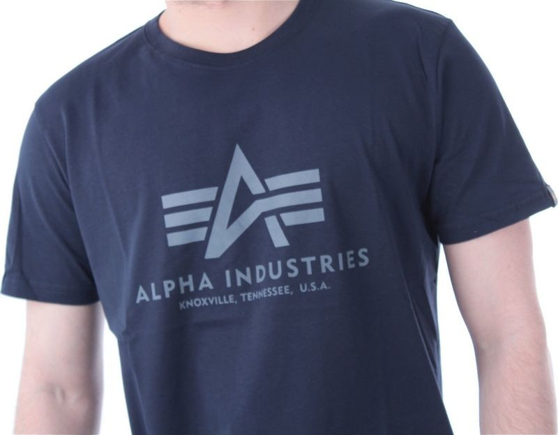 ALPHA INDUSTRIES Tričko BASIC - modré, (100501/07)