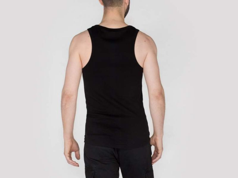 ALPHA INDUSTRIES tielko Fade Out Tank, čierne, 176541/03