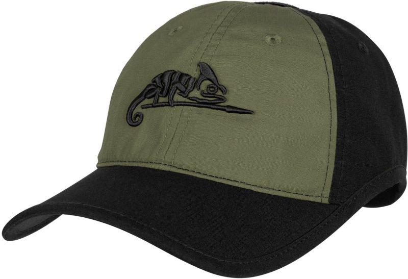 HELIKON Baseball šiltovka Logo Cap - čierna/olivová - čierna/olivová, (CZ-LGC-PR-0102B)