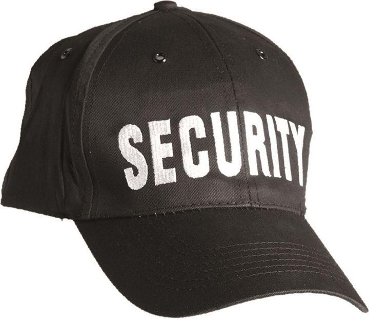 MILTEC Baseball šiltovka SECURITY - čierna, (12076097)