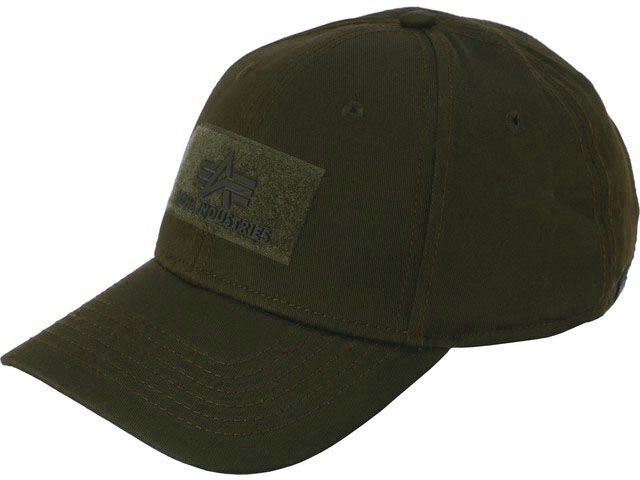 ALPHA INDUSTRIES Šiltovka Velcro Cap - dark green, (168903/257)