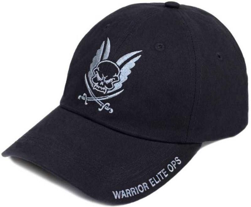 WARRIOR Šiltovka Logo Cap with Coyote black Embroidery - čierna, (W-EO-CAP-BLK)