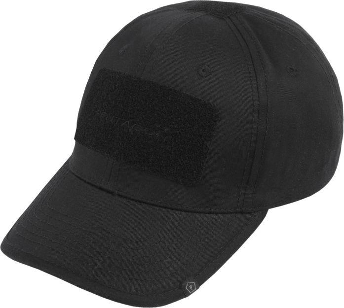 PENTAGON Baseball šiltovka s velcro panelmi, bavlna - čierna, (K13025-BLK)