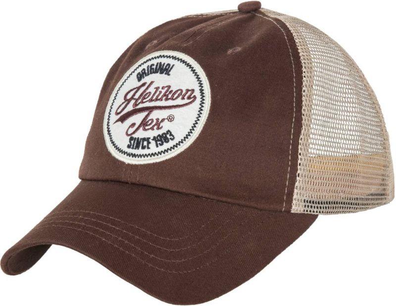 HELIKON Baseball šiltovka Trucker Logo - hnedá, (CZ-TLC-CT-6020A)