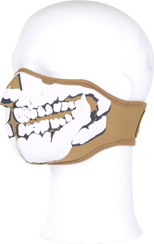 Ochranná maska na tvár, neoprén, 3D, piesková