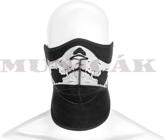 INVADER GEAR Neoprénová maska s lebkou - čierna, (5064)