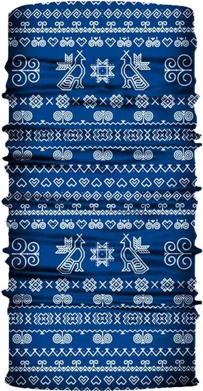 Multifunkčná šatka Čičmany Modrá CF7