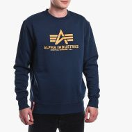 ALPHA INDUSTRIES Mikina Basic Sweater - new navy/wheat (178302/463)