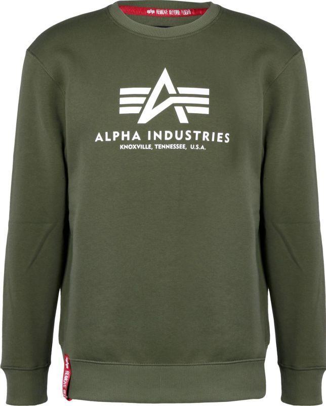 ALPHA INDUSTRIES Mikina Basic Sweater, dark-green, 178302/257