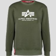 ALPHA INDUSTRIES Mikina Basic Sweater, dark-green, 178302/257