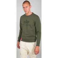 ALPHA INDUSTRIES Mikina Basic Sweater - dark olive/olive (178302/482)
