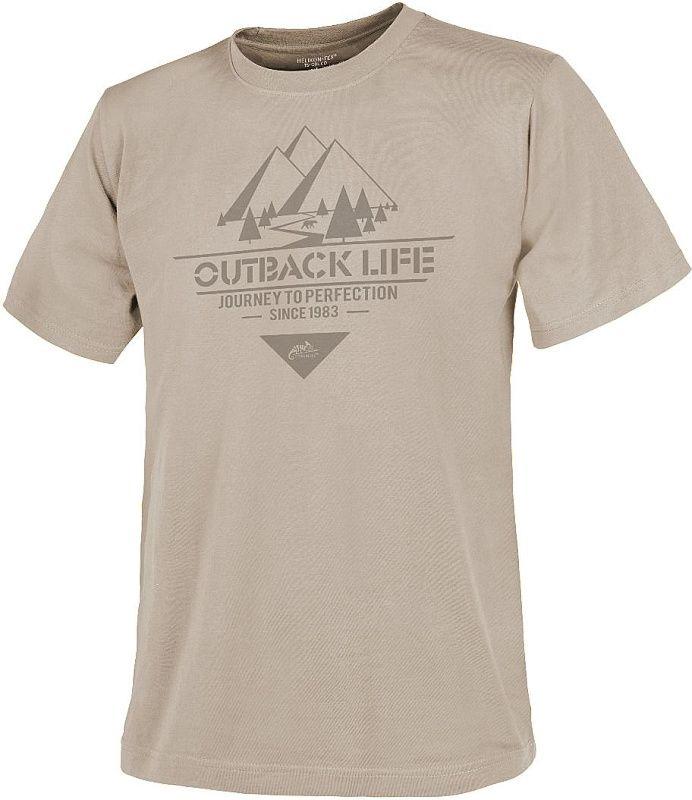 HELIKON Tričko Outback Life - khaki (TS-OBL-CO-13)