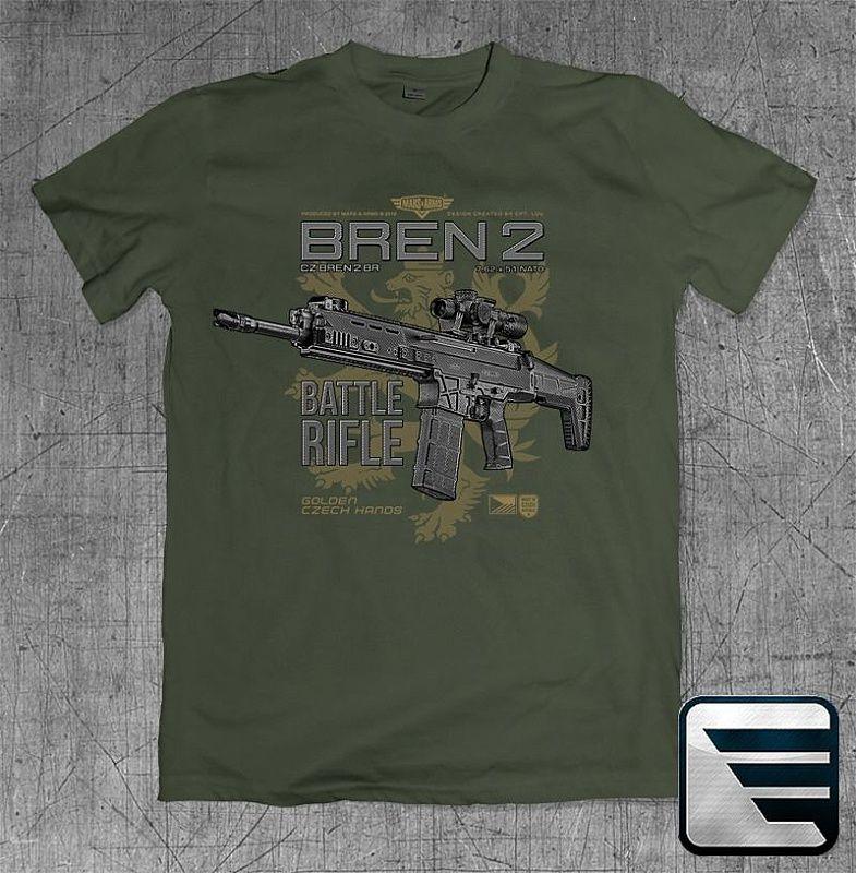 MARS&ARMS Tričko Bren 2 Battle Rifle - zelené (BREN2)