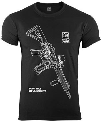 SPECNA ARMS Tričko Your Way of Airsoft M4 vertical - čierne (SPE-23-025383)