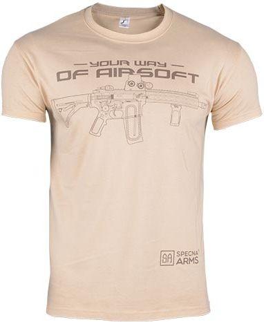SPECNA ARMS Tričko Your Way of Airsoft M4 horizontal - tan (SPE-23-025379)