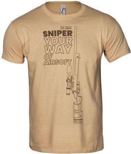 SPECNA ARMS Tričko Your Way of Airsoft Sniper - tan (SPE-23-027526)