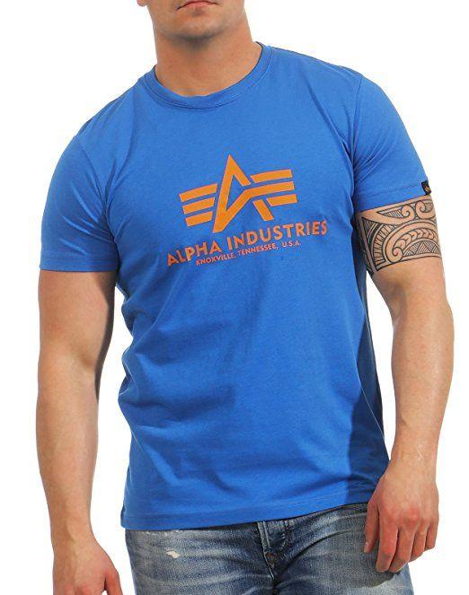 ALPHA INDUSTRIES tričko BASIC, lapis blue, 100501/420