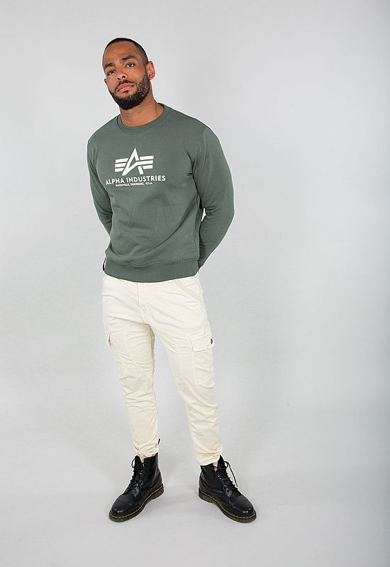 ALPHA INDUSTRIES Mikina Basic Sweater - vintage green (178302/432)