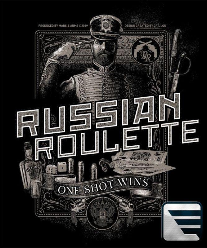 MARS&ARMS Tričko Russian Roulette - čierne (RUSRUL)