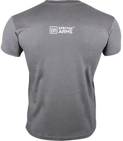 SPECNA ARMS Tričko Your Way of Airsoft M4 vertical - šedé/biele (SPE-23-025381)