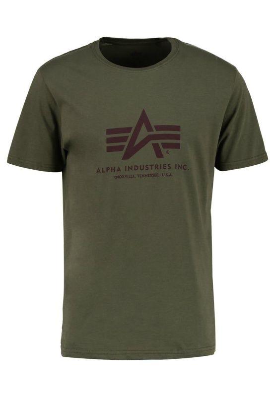ALPHA INDUSTRIES tričko BASIC, dark green, 100501/257