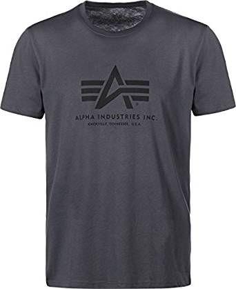 ALPHA INDUSTRIES tričko BASIC, šedočierne/čierne, 100501/412