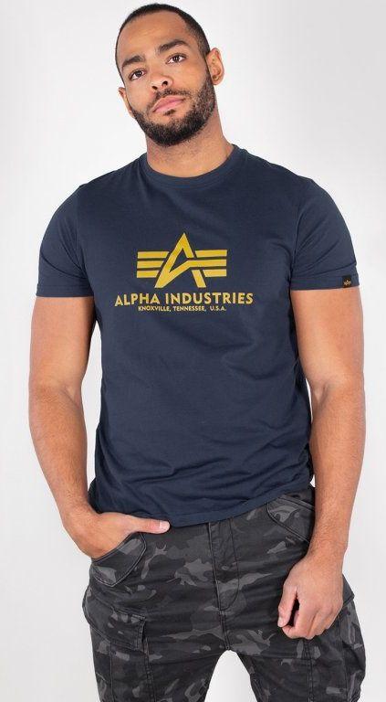 ALPHA INDUSTRIES tričko BASIC, new navy, 100501/435