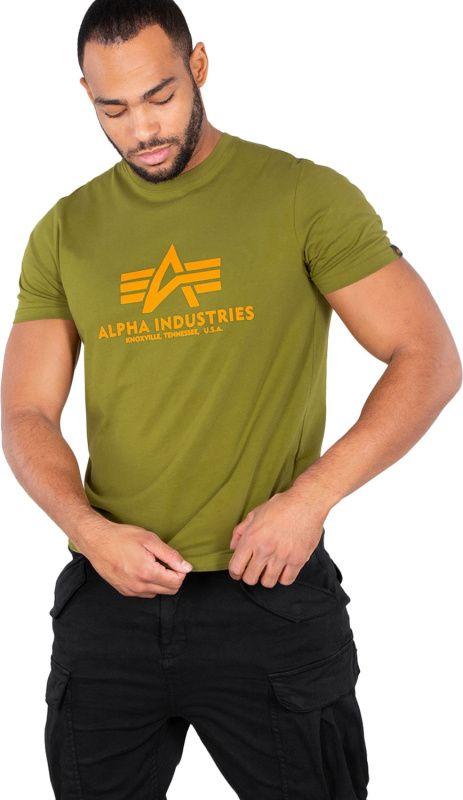 ALPHA INDUSTRIES tričko BASIC, khaki/green, 100501/440