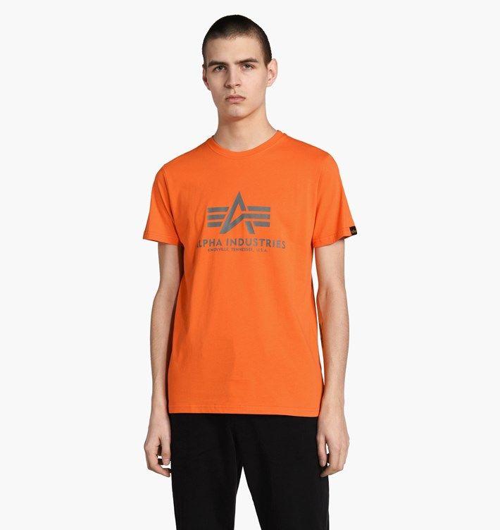 ALPHA INDUSTRIES tričko BASIC, flame orange, 100501/417