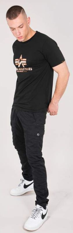 ALPHA INDUSTRIES tričko BASIC, čierna/zlatá, 100501/365