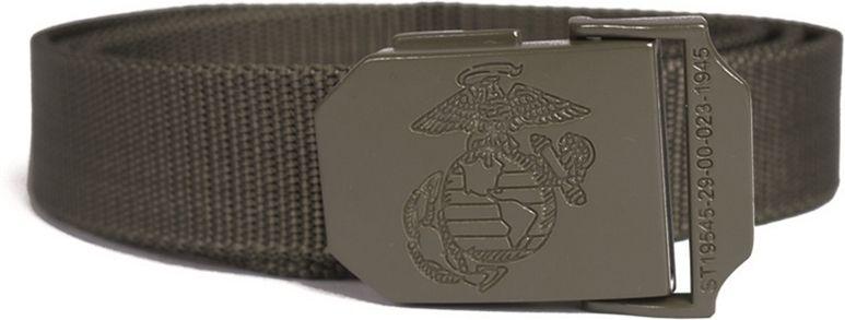 MILTEC Opasok USMC, kovová spona 30mm - olivový, (13114001)