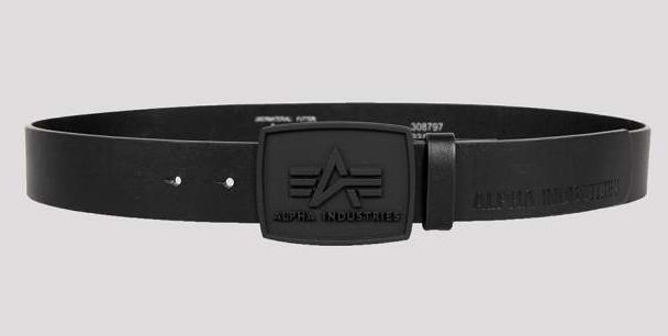 ALPHA INDUSTRIES opasok All Black Belt, čierny, 186905/03