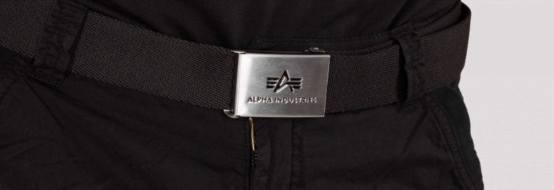 ALPHA INDUSTRIES Opasok Big A Belt - čierny (176907/03)